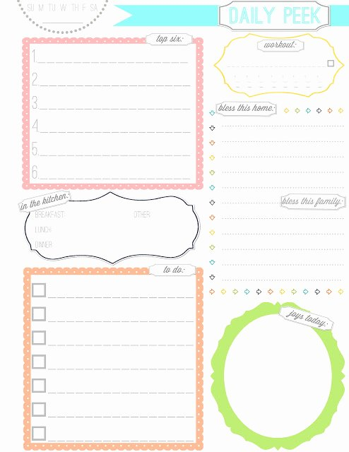 picture about Cute Weekly Planner Printable identify 8 Great Of Lovable Printable Weekly Planners Lovely Latter