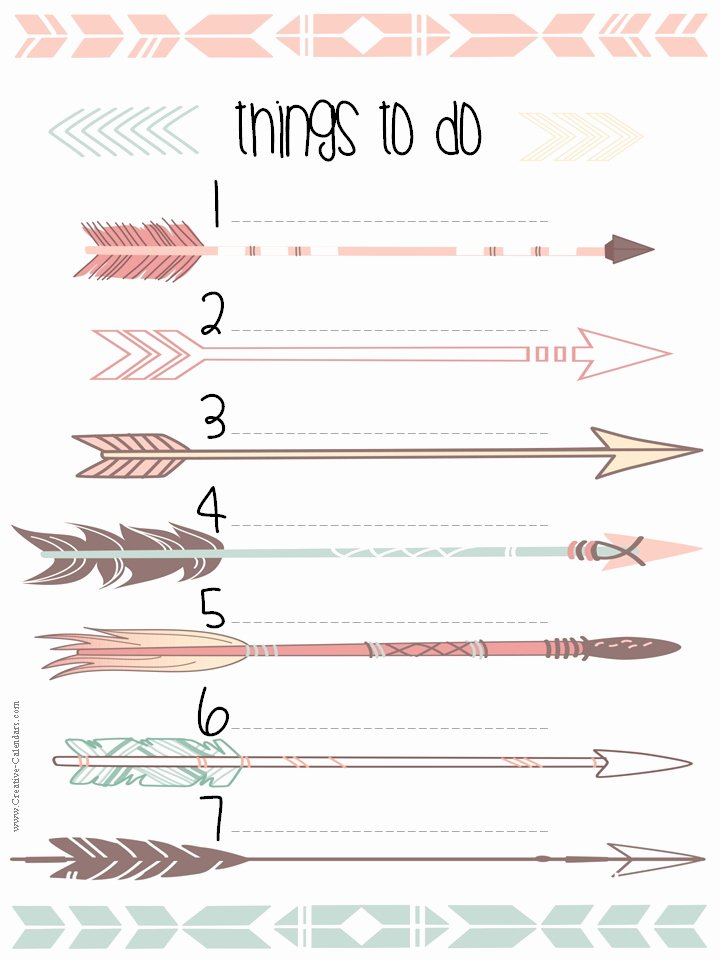 8 Best Of Cute to Do List Printable Template Free