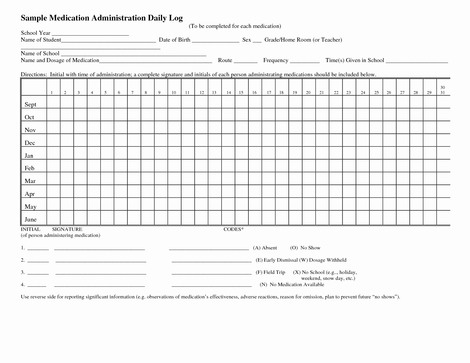 8 Best Of Daily Medication Log Printable Daily