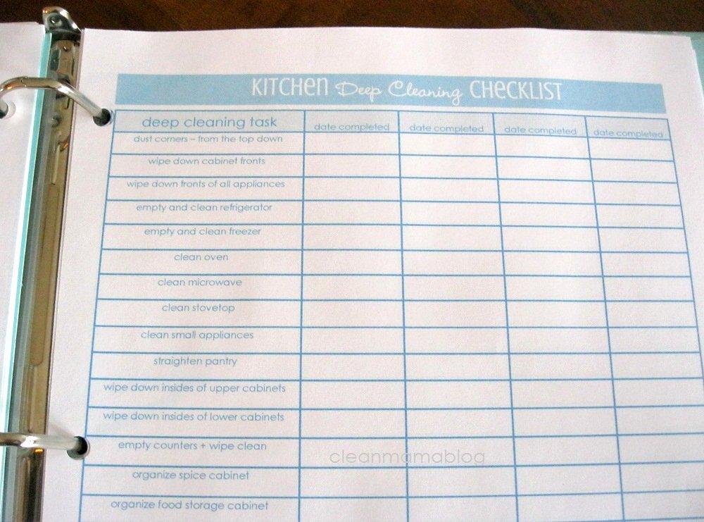 8 Best Of Deep Cleaning Checklist Printable Deep