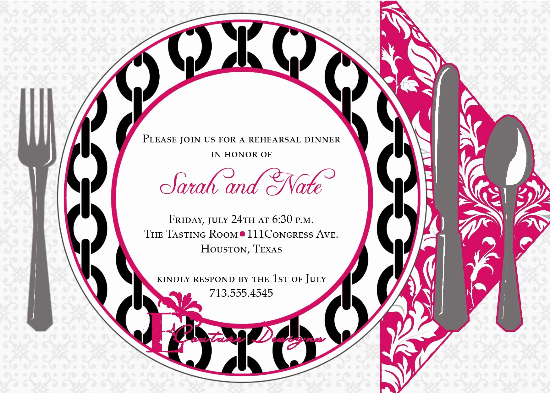 8 Best Of Dinner Invitation Templates Printable