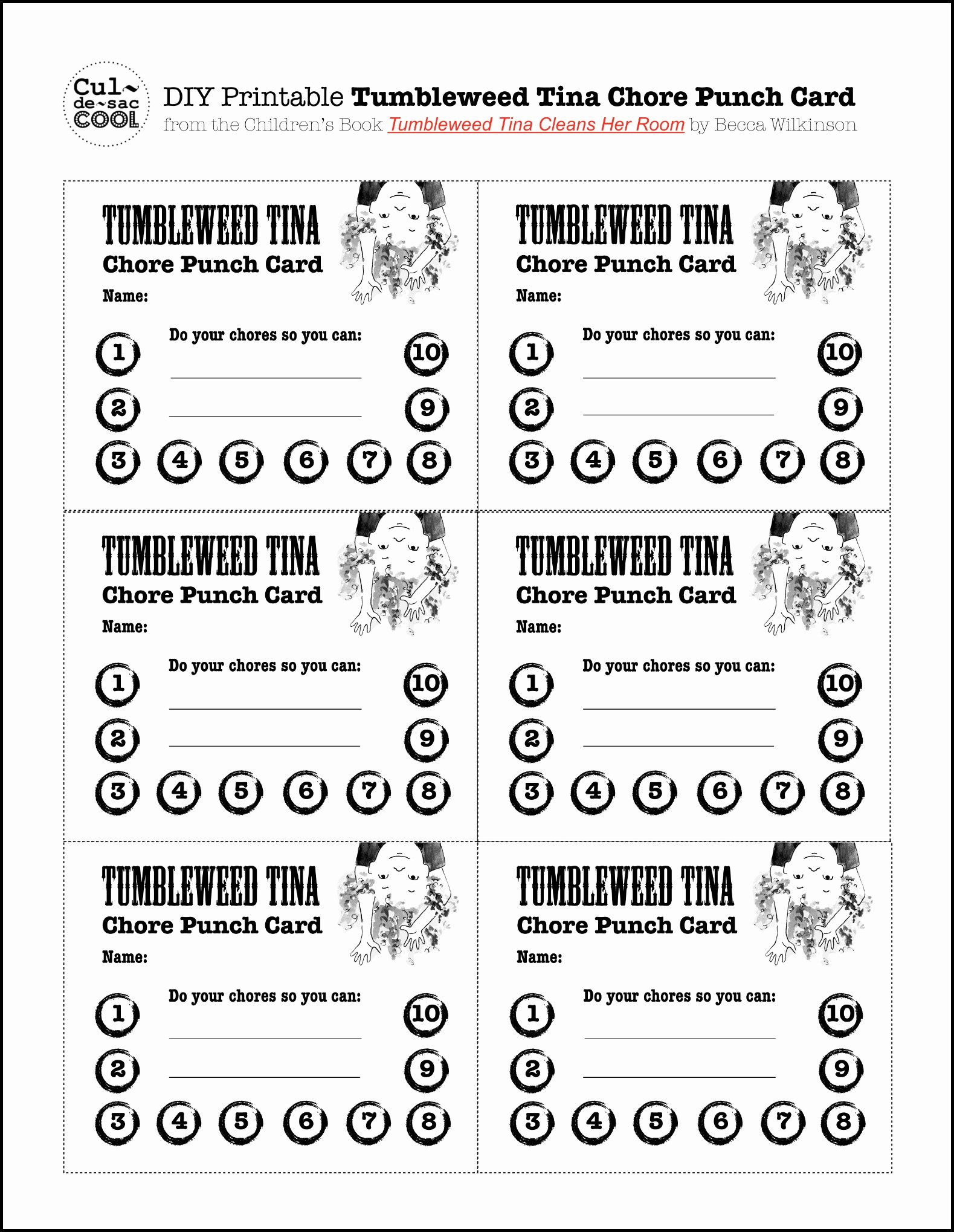 8 Best Of Diy Printable Punch Cards Potty