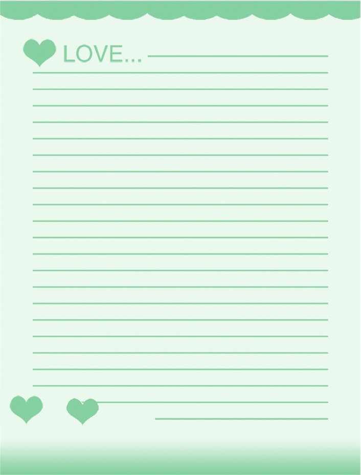 8 Best Of Elegant Lined Stationery Printable Free