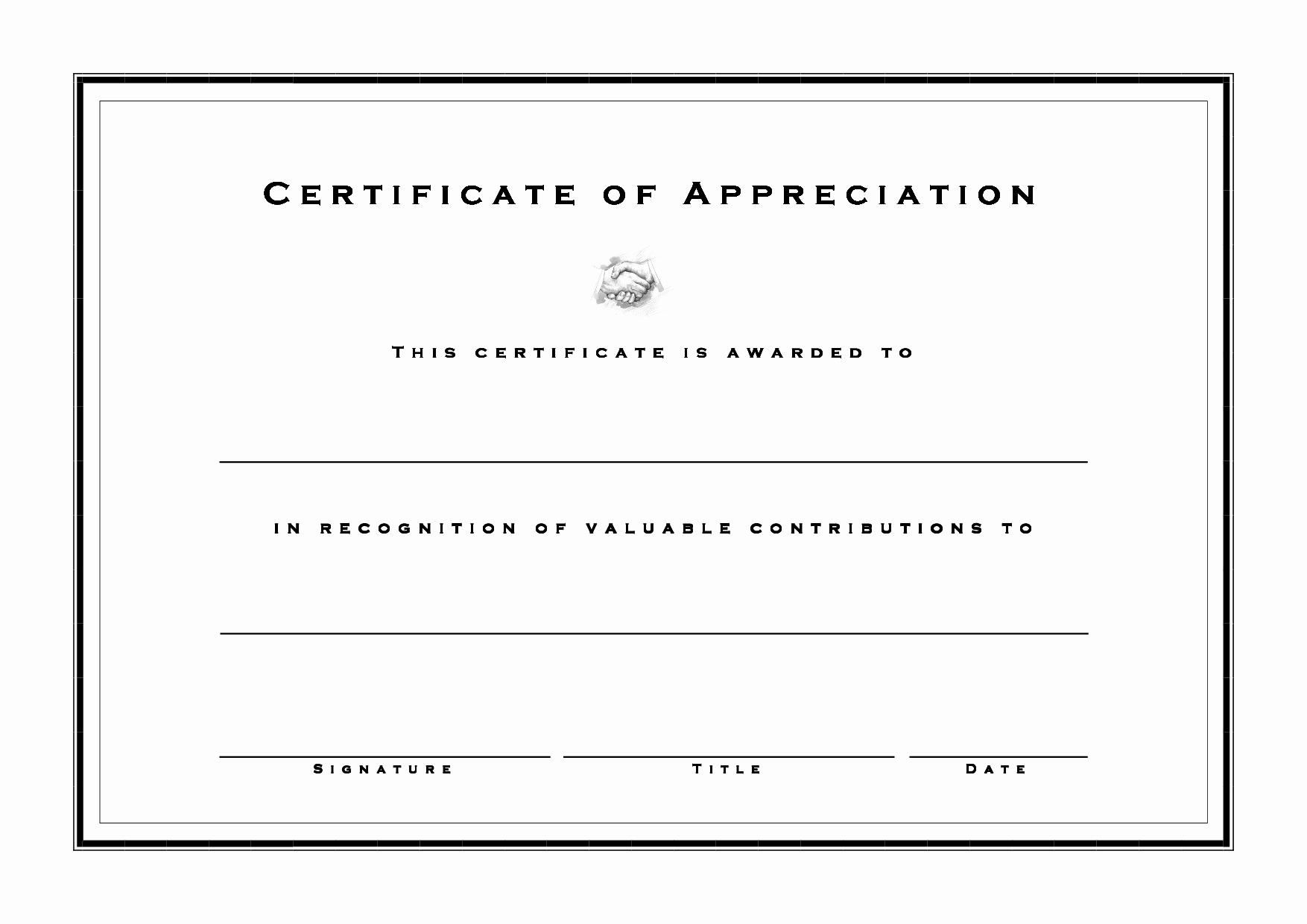 8 Best Of Free Blank Certificate Appreciation