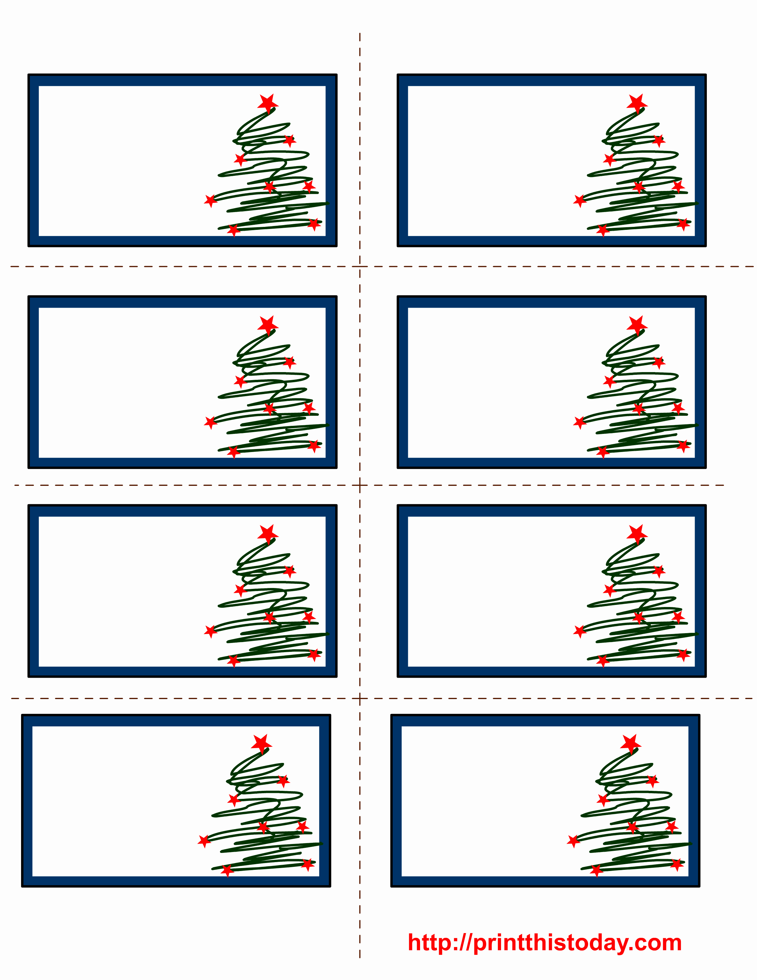 8 Best Of Free Christmas Printable Label Template