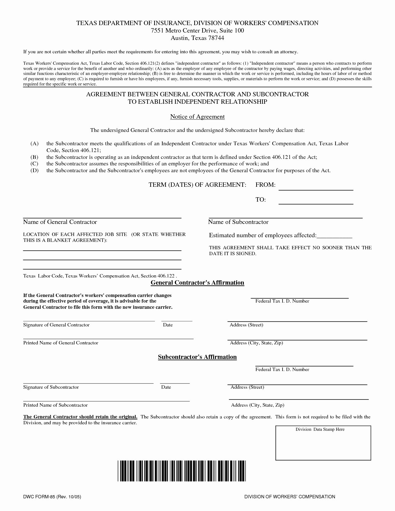 8 Best Of Free Contract Agreement Templates Free