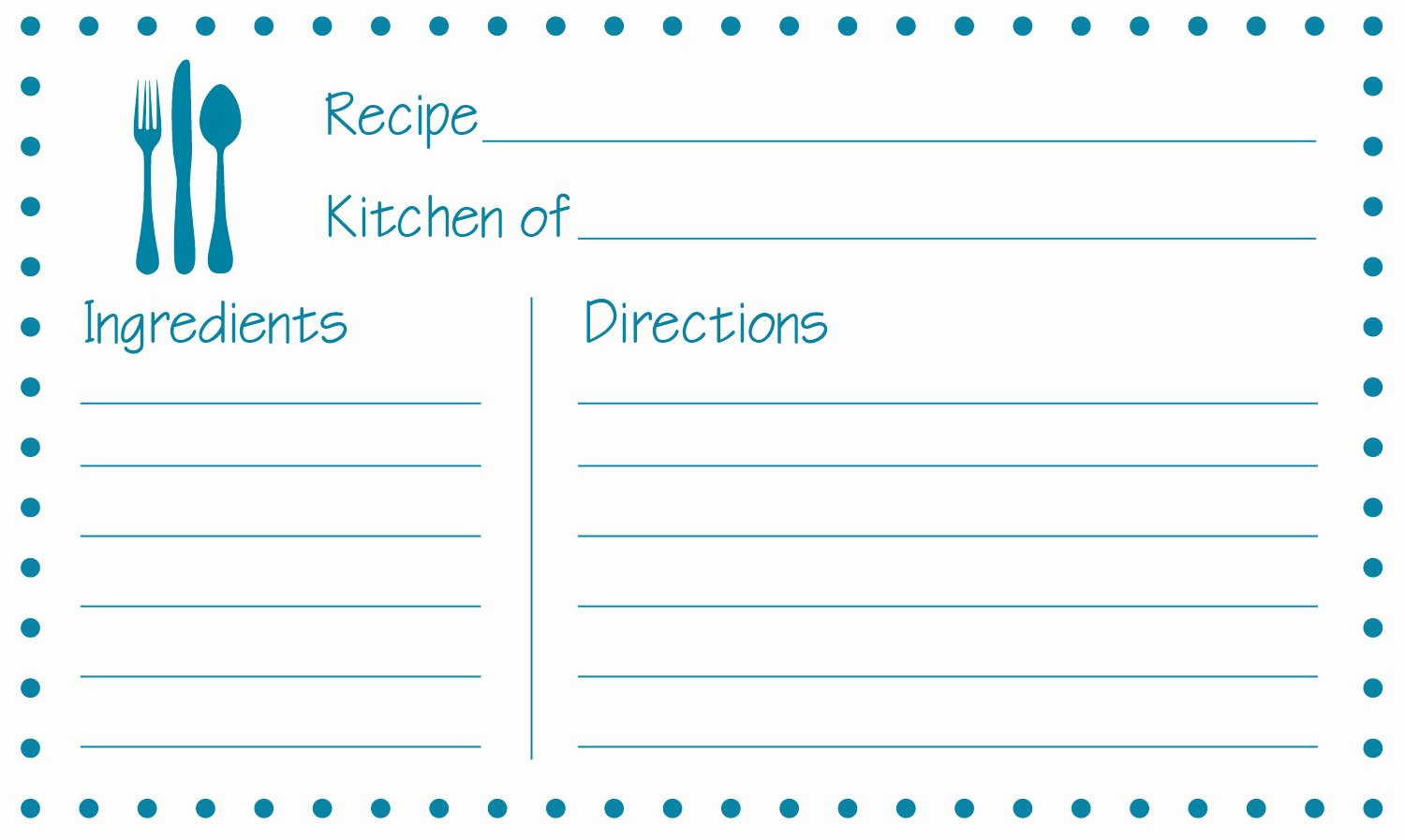 8 Best Of Free Printable 3x5 Recipe Cards