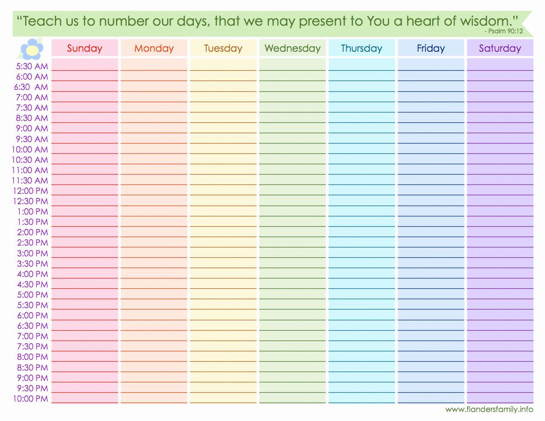 8 Best Of Free Printable Blank Weekly Schedule