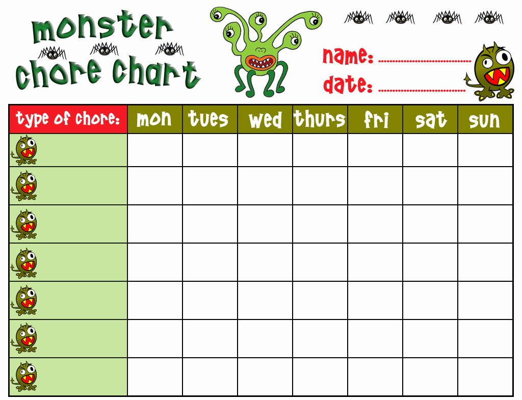 8 Best Of Free Printable Chore Charts for Boys