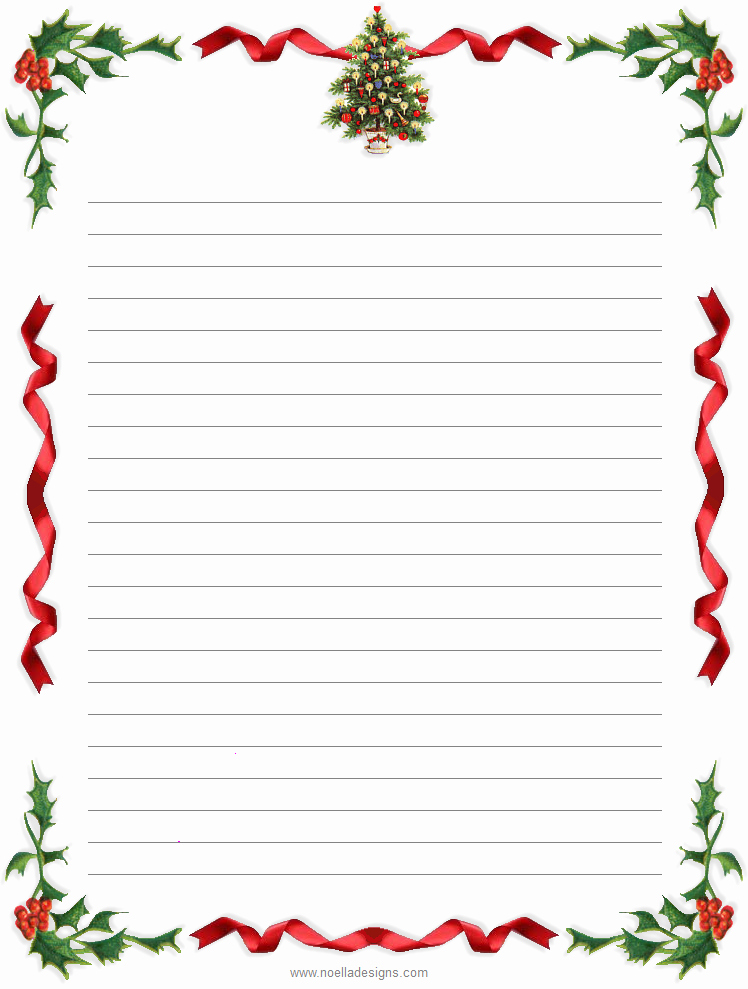 8 Best Of Free Printable Christmas Stationery
