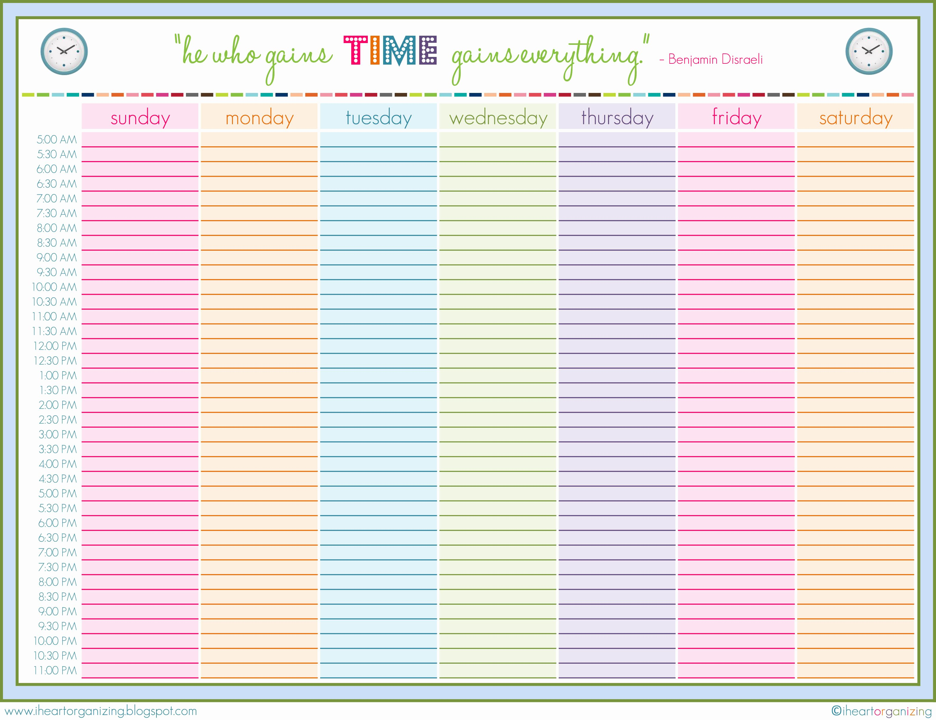 8 Best Of Free Printable Daily Planner Template