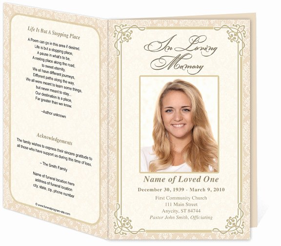 8 Best Of Free Printable Funeral Service Templates