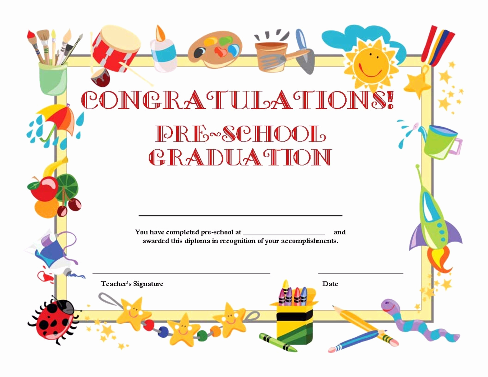 8 Best Of Free Printable Graduation Certificates