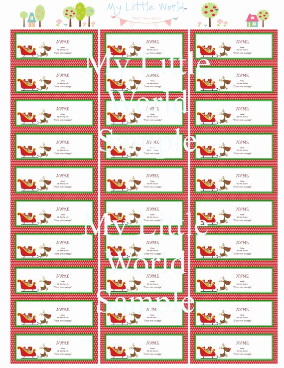 8 Best Of Free Printable Holiday Mailing Labels