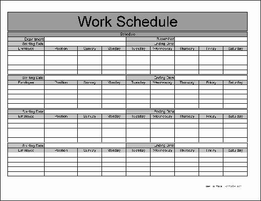 8 Best Of Free Printable Monthly Work Schedule