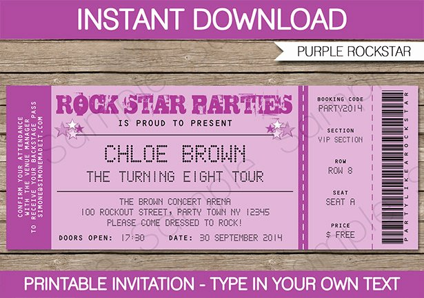 8 Best Of Free Printable Ticket Invitation Free