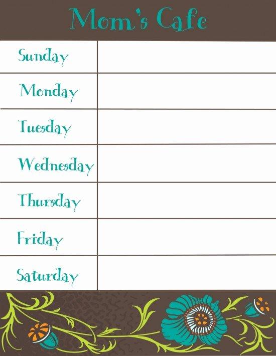 8 Best Of Free Printable Weekly Dinner Menu and