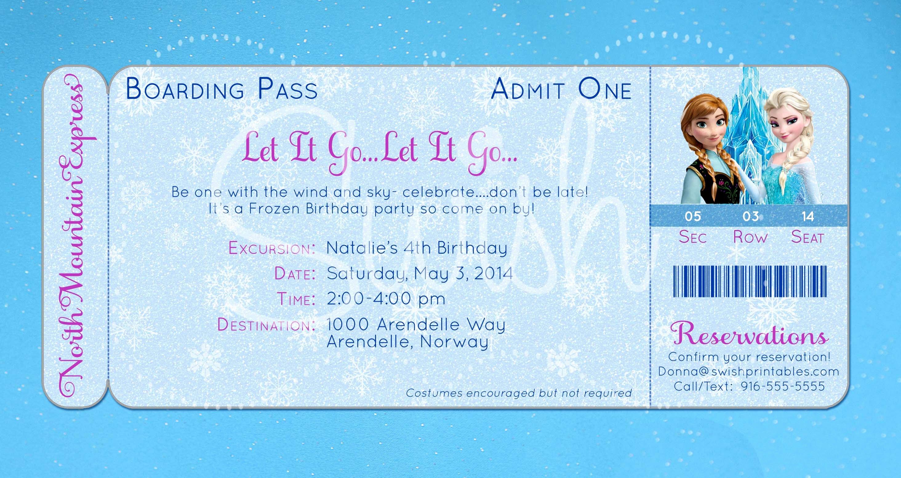8 Best Of Frozen Birthday Invitations Printable