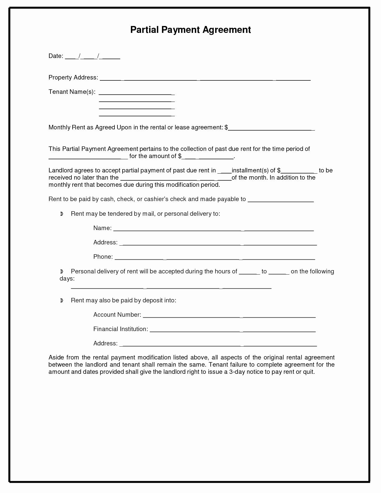 8 Best Of Installment Payment Agreement Template