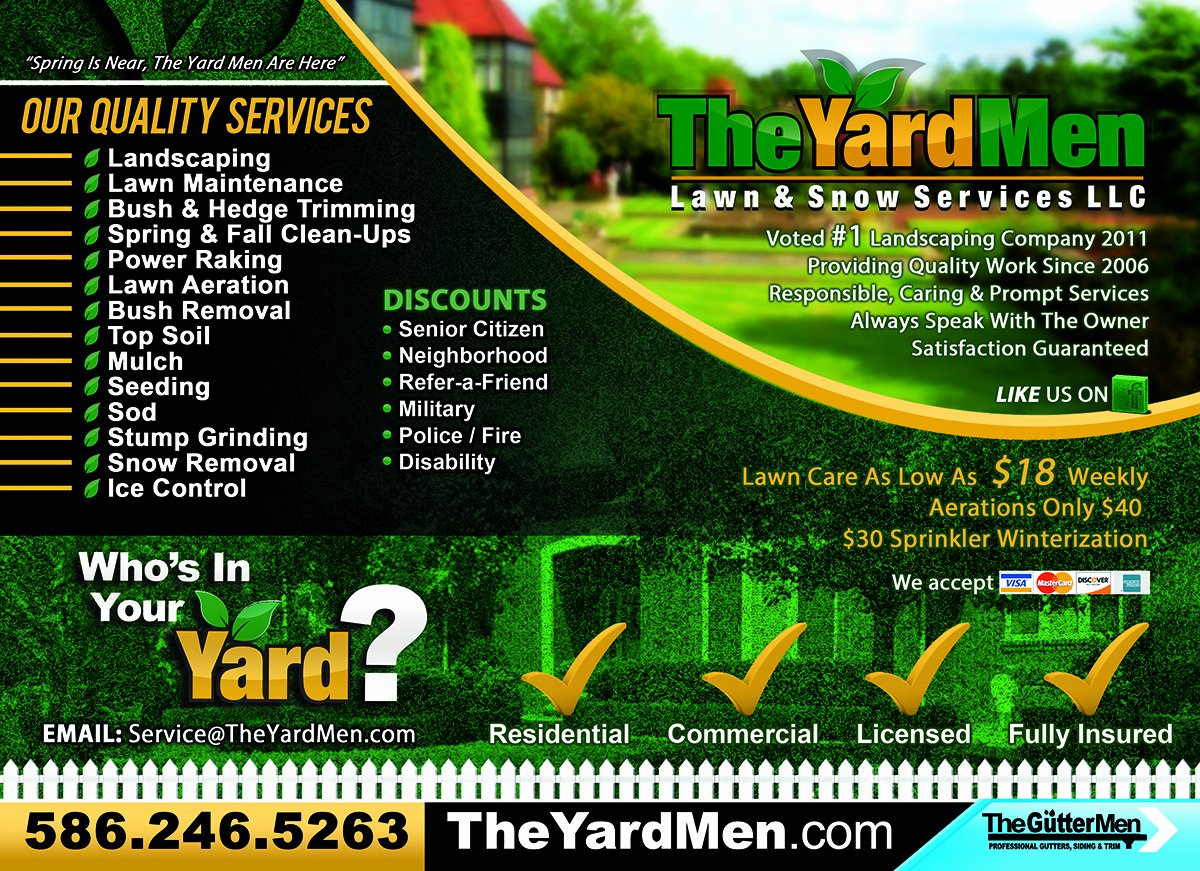 8 Best Of Lawn Care Flyers Printable Professional