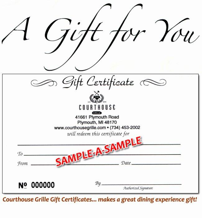 8 Best Of Line Restaurant Gift Certificate $25