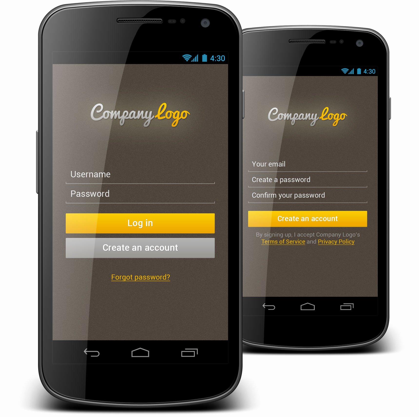 8 Best Of Mobile App Design Templates Mobile App
