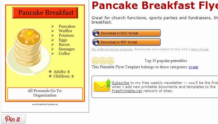 8 Best Of Pancake Printable Template Pancake
