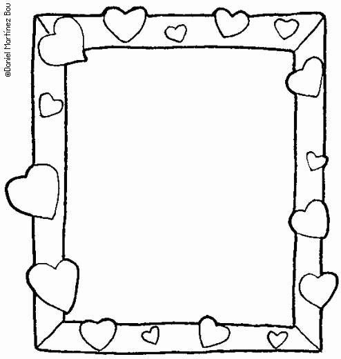 8 Best Of Picture Frames and Coloring Printable