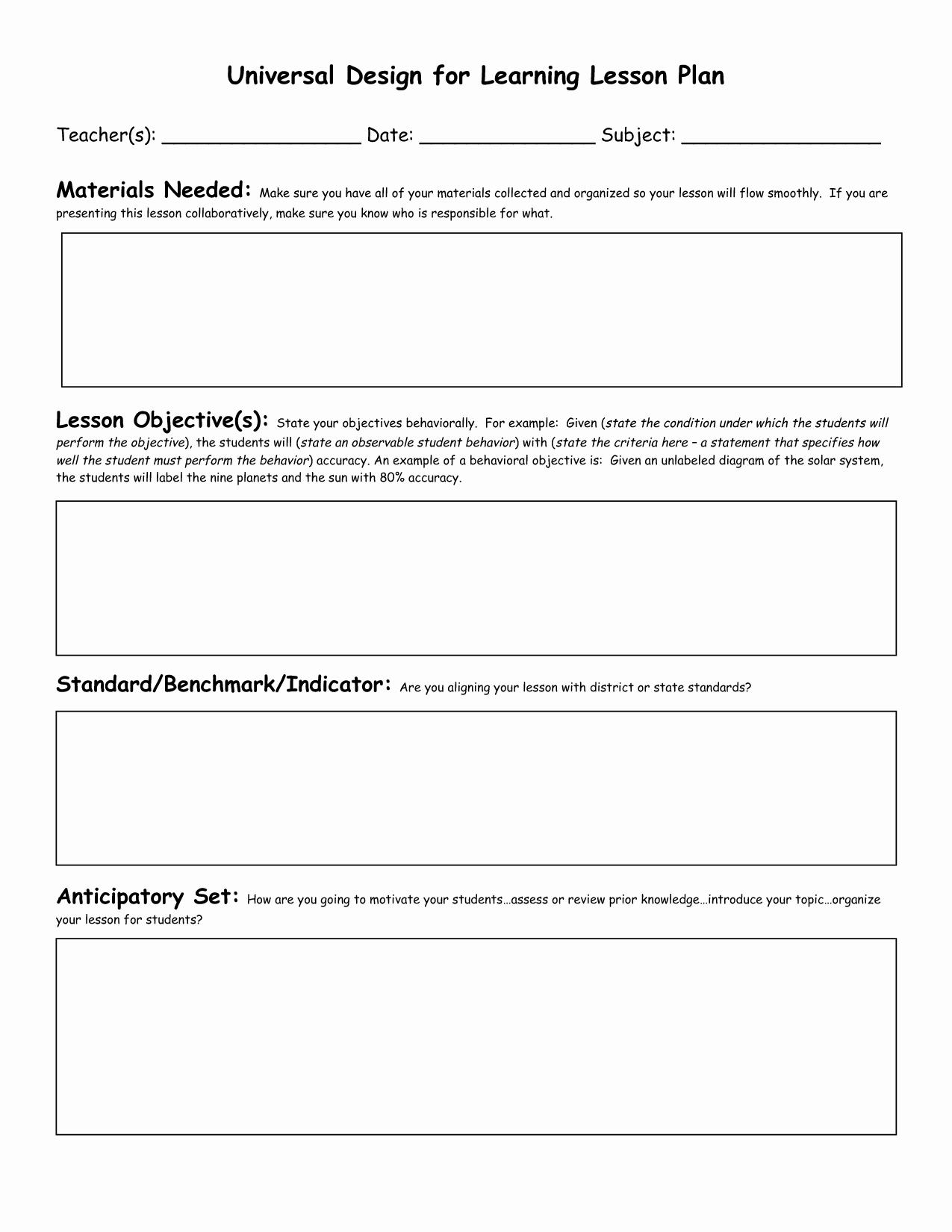 8 Best Of Preschool Lesson Plan Template Printable