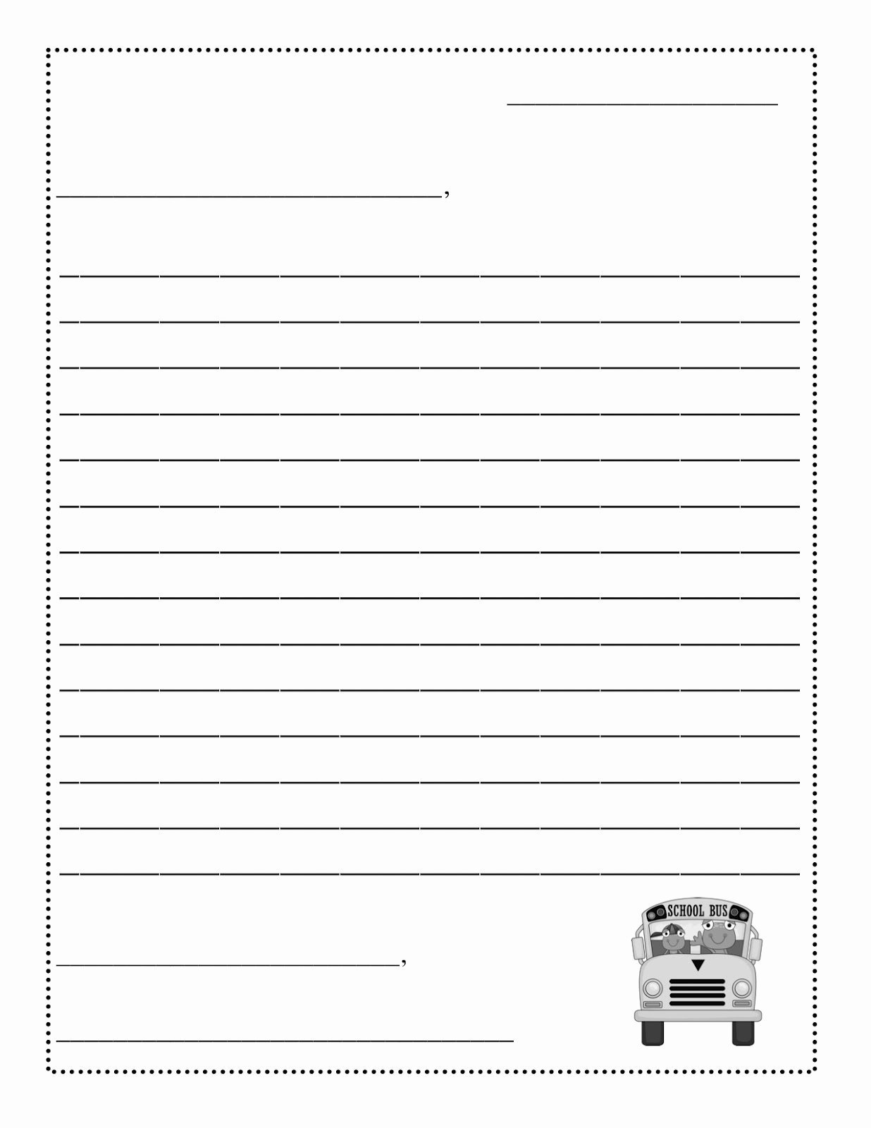 8 Best Of Printable Blank Template Friendly Letter