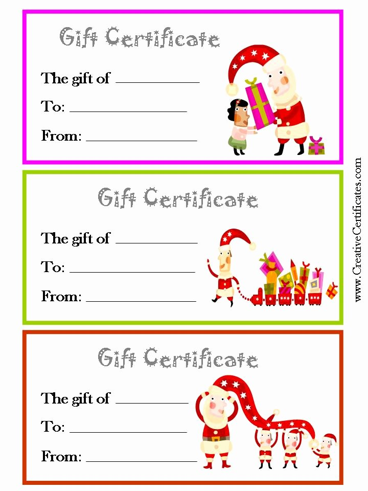 8 Best Of Printable Christmas Gift Cards Free