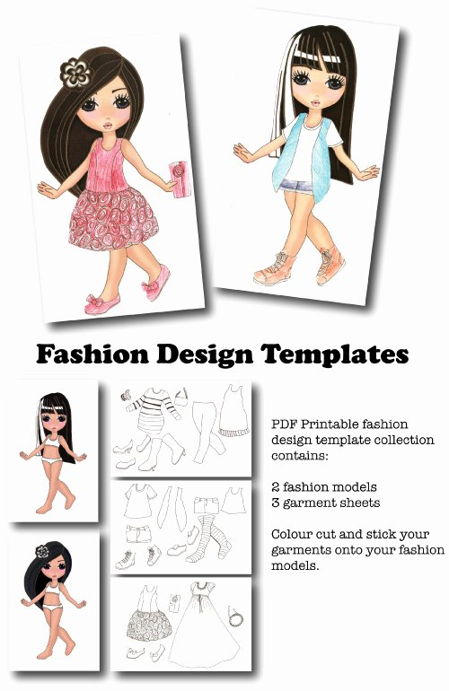 8 Best Of Printable Clothing Design Templates