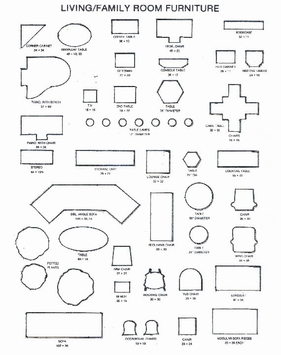 8 Best Of Printable Furniture Templates Free