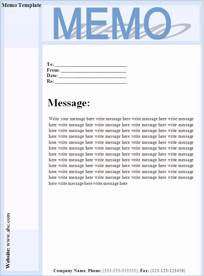 post printable memo templates