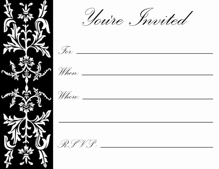8 Best Of Printable Party Invitations for Adults Free Printable Birthday Invitations