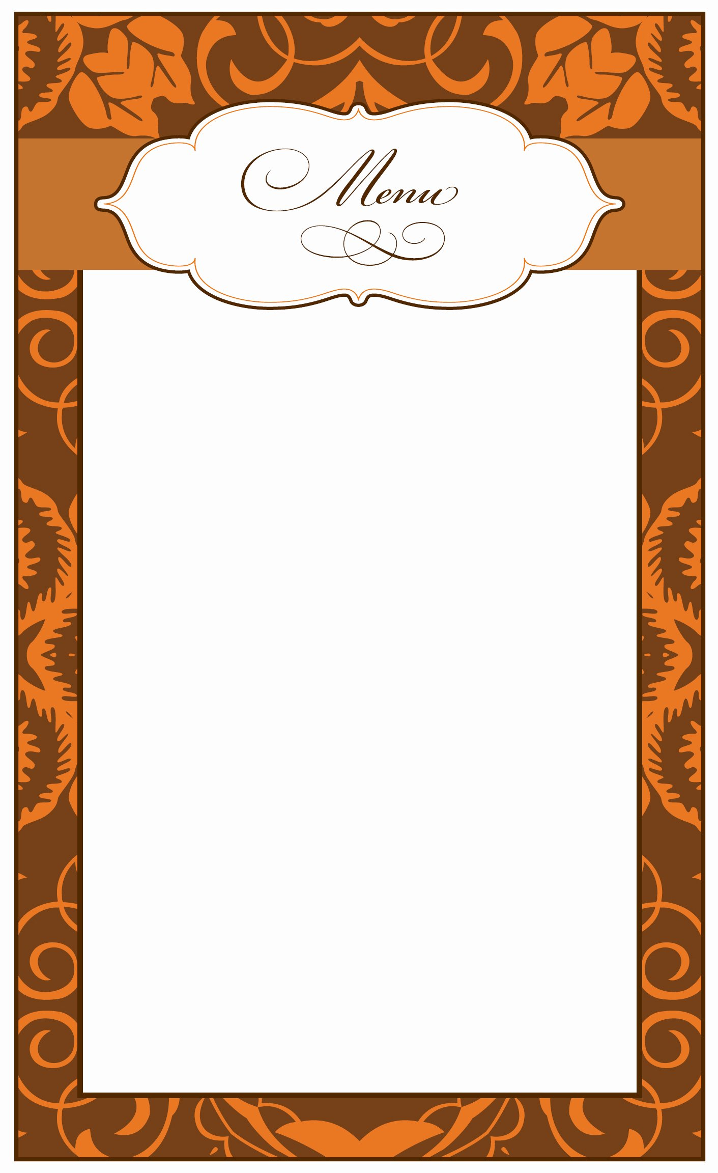 8 Best Of Printable Thanksgiving Menu Blank