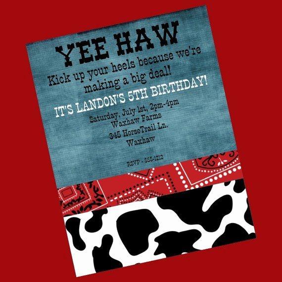 8 Best Of Printable Western Birthday Invitations
