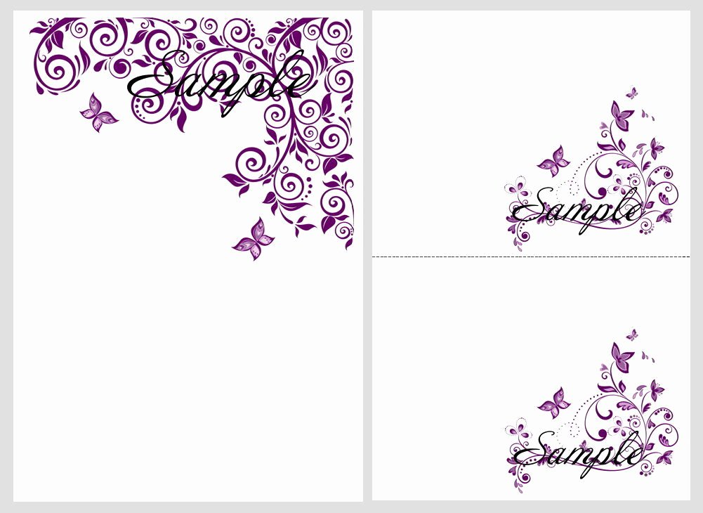 8 Best Of Purple butterfly Templates Printable Free