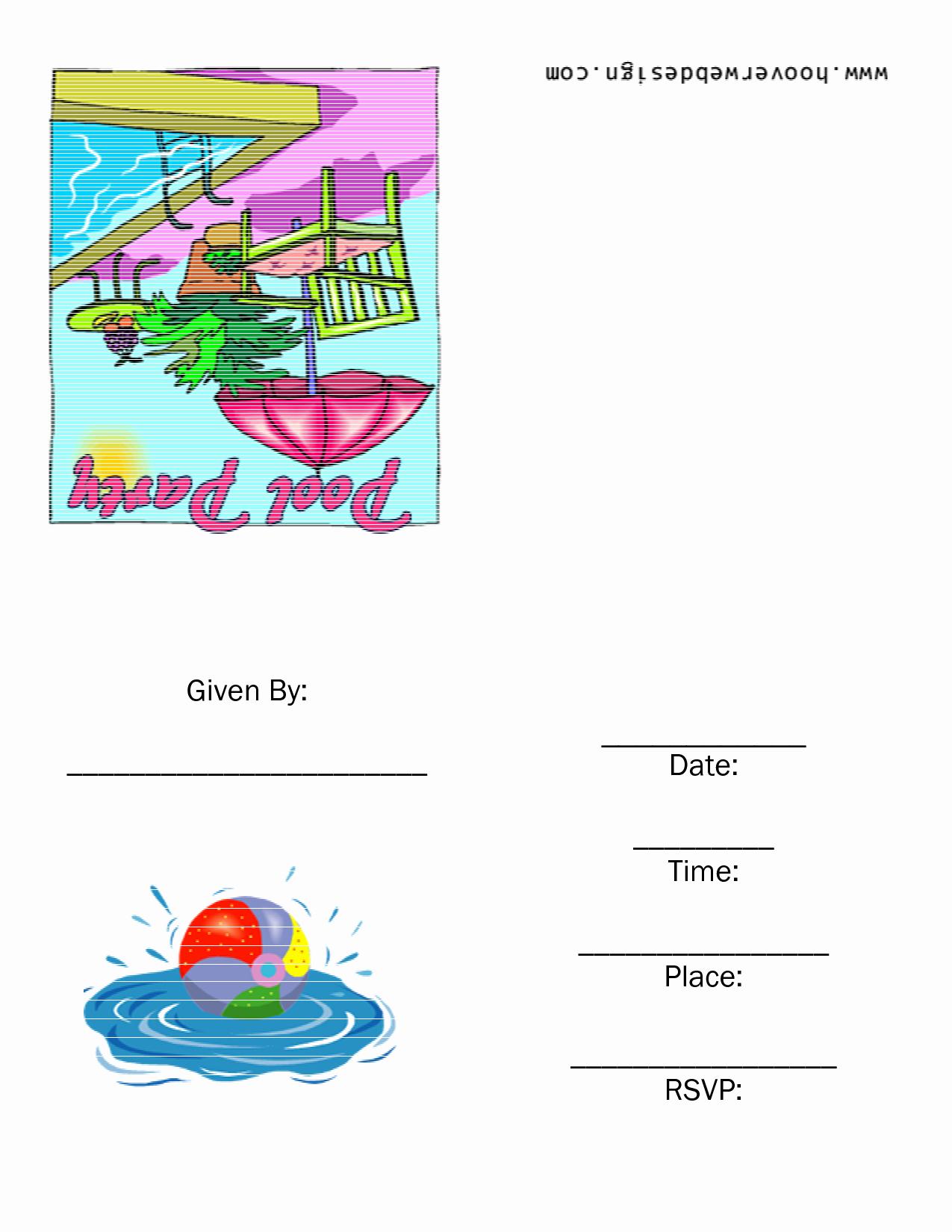 8 Best Of Rainbow Pool Party Invitation Printable