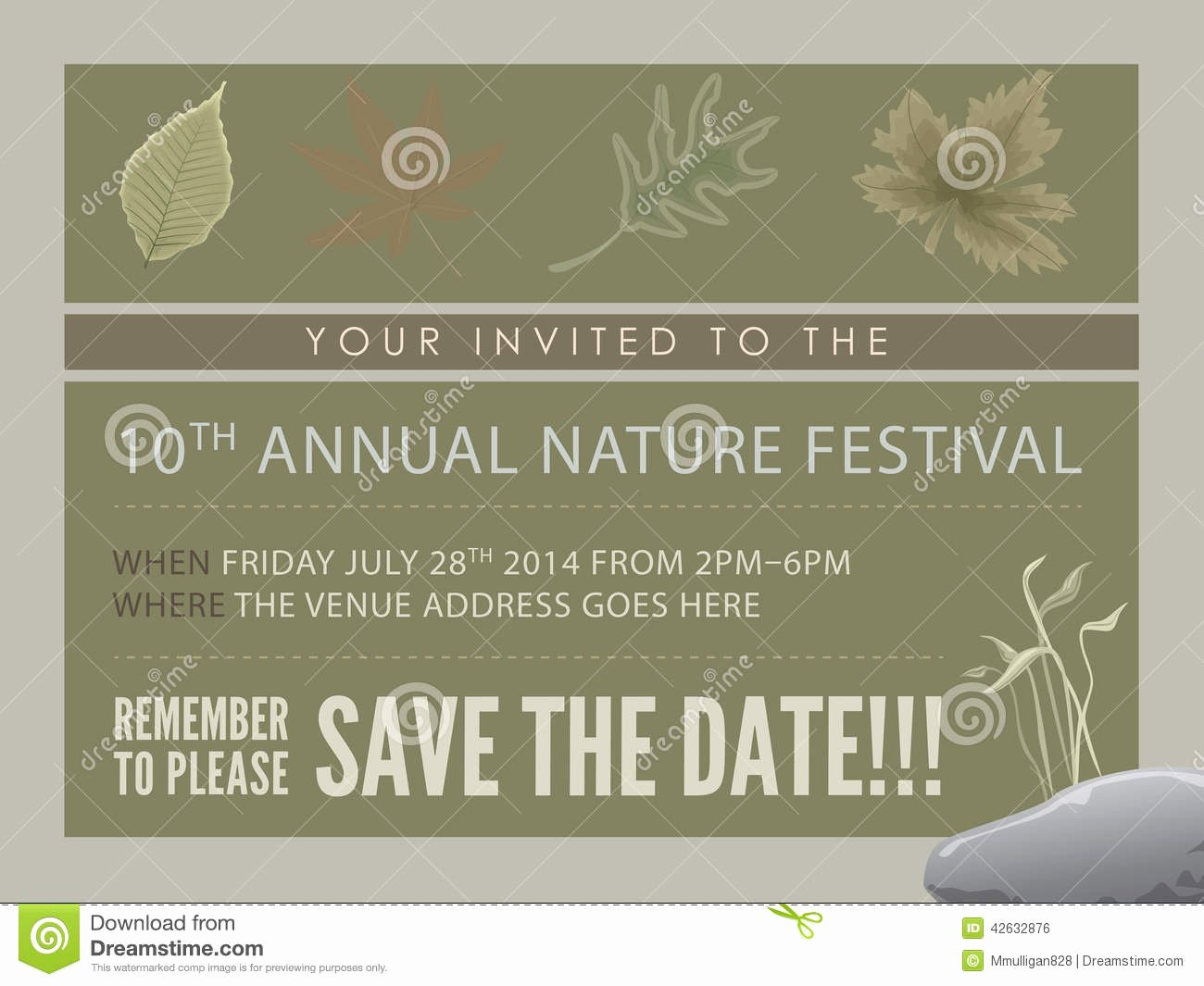 post save the date flyer template