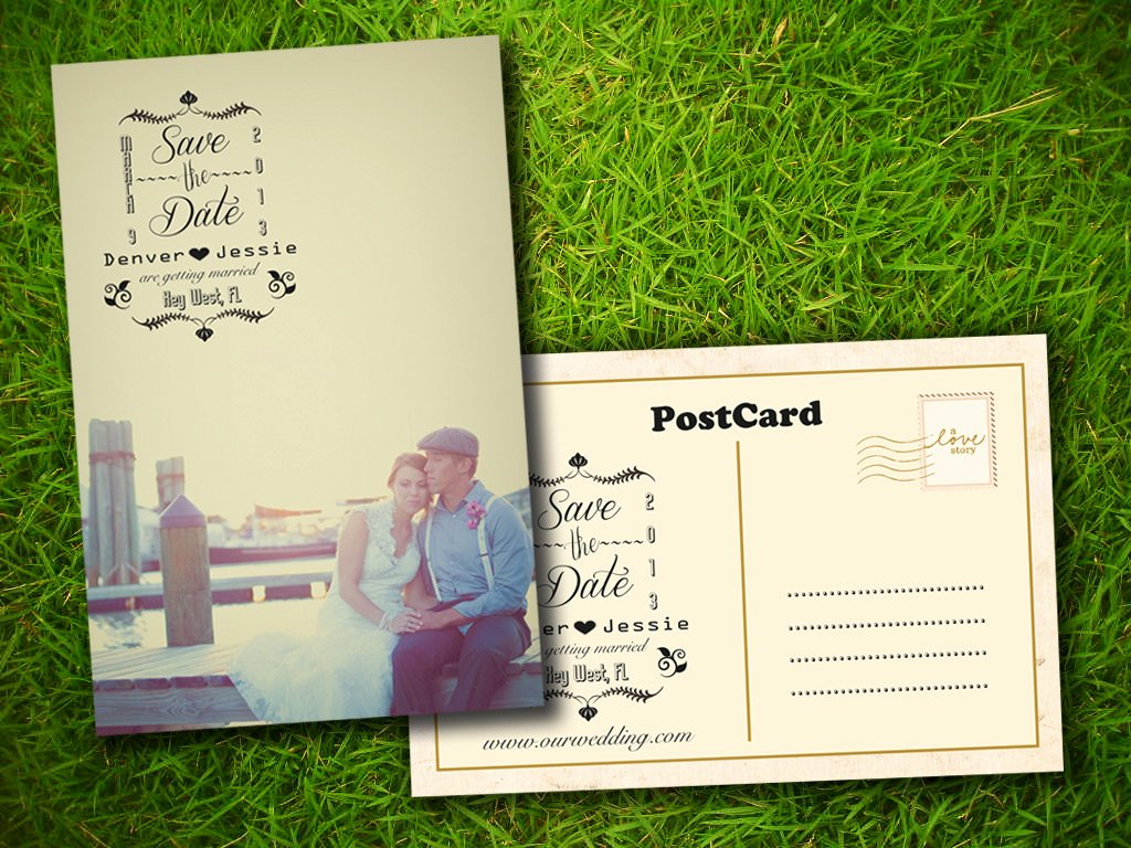 8 Best Of Save the Date Postcards Rustic Country