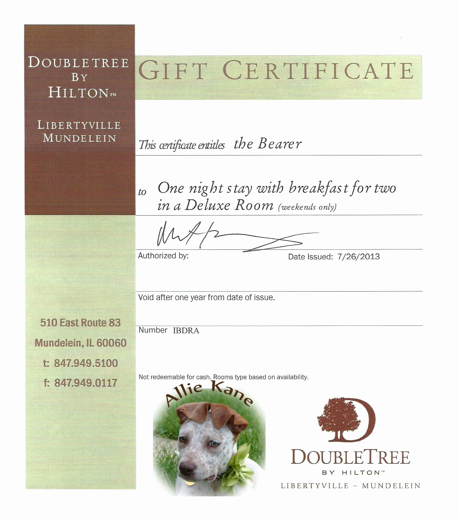 8 Best Of Silent Auction Gift Certificate Silent