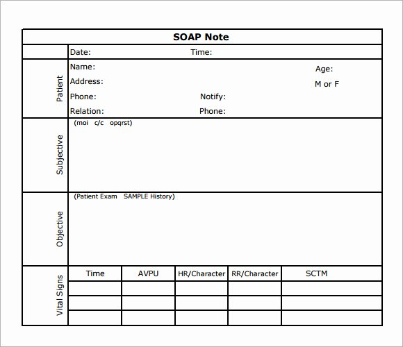 8 Best Of soap Note Template Pdf Printable Blank