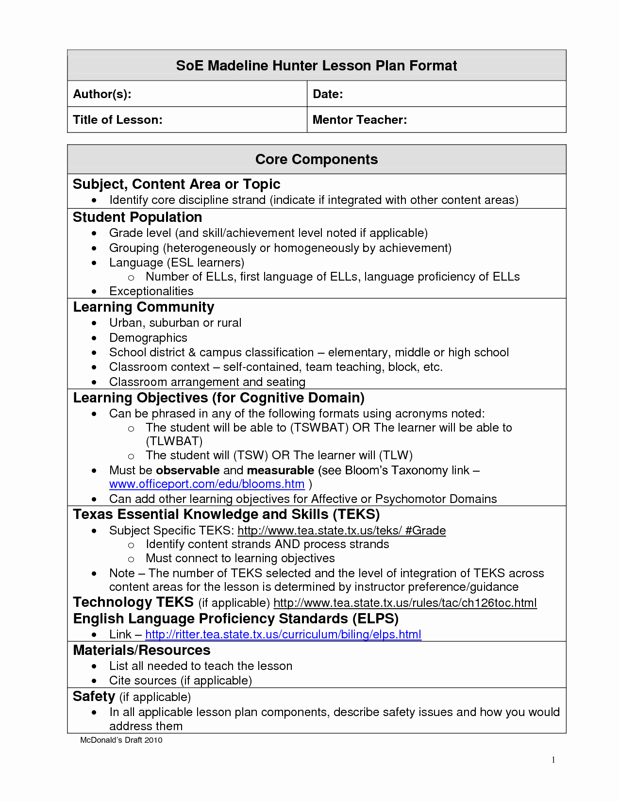 8 Best Of Team Lesson Plan format Daily Lesson