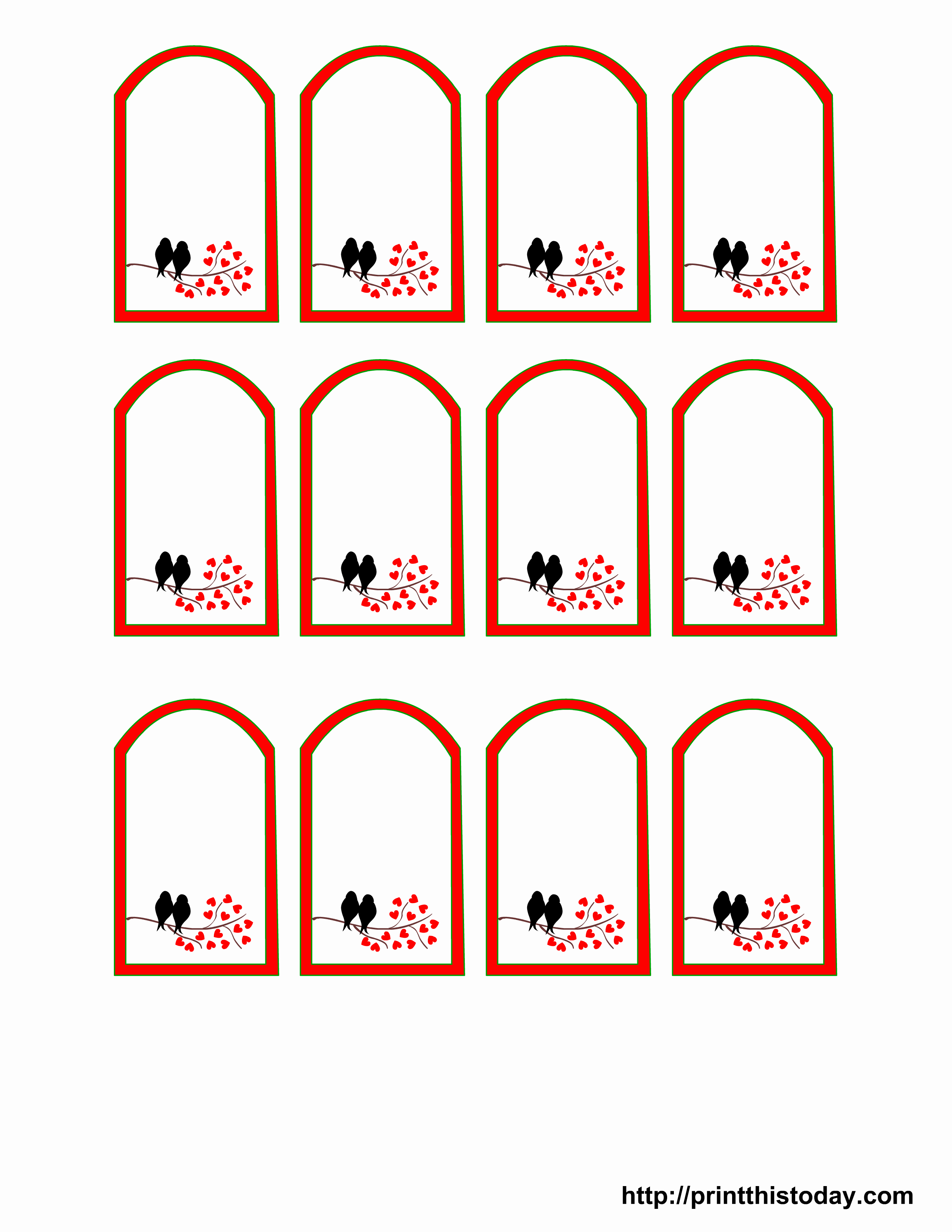 8 Best Of Wedding Gift Tag Templates Printable