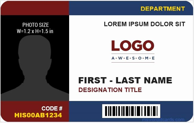 8 Best Pany Id Card Templates Ms Word