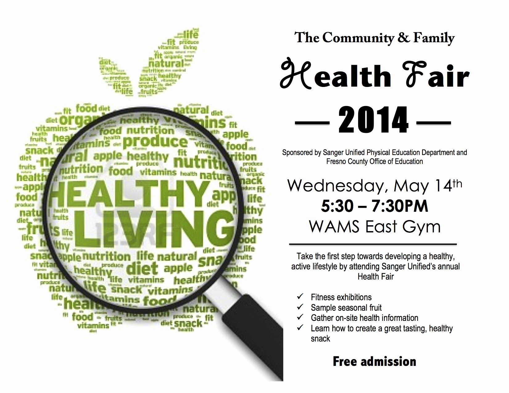 8 Best S Of Family Health Fair Flyers Health and