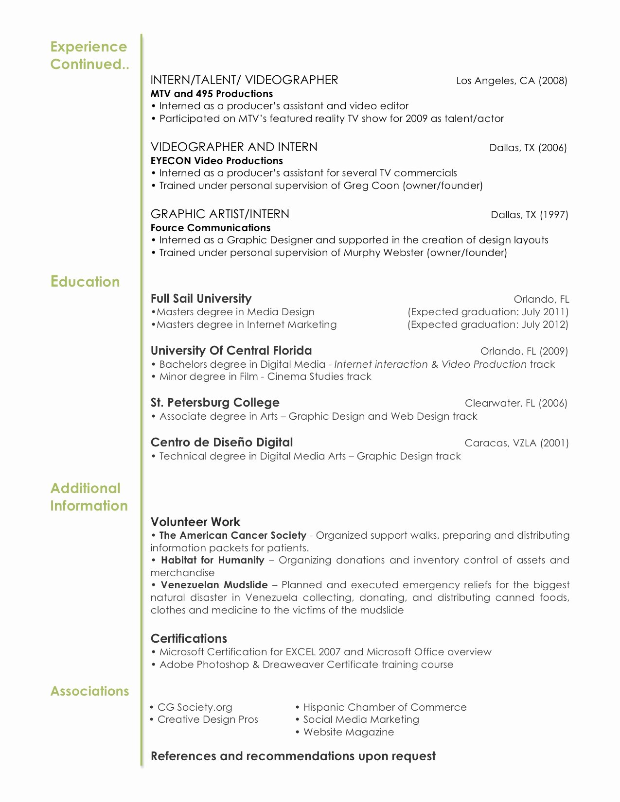 8 Best S Of Graphic Design Resume Sample Objectives