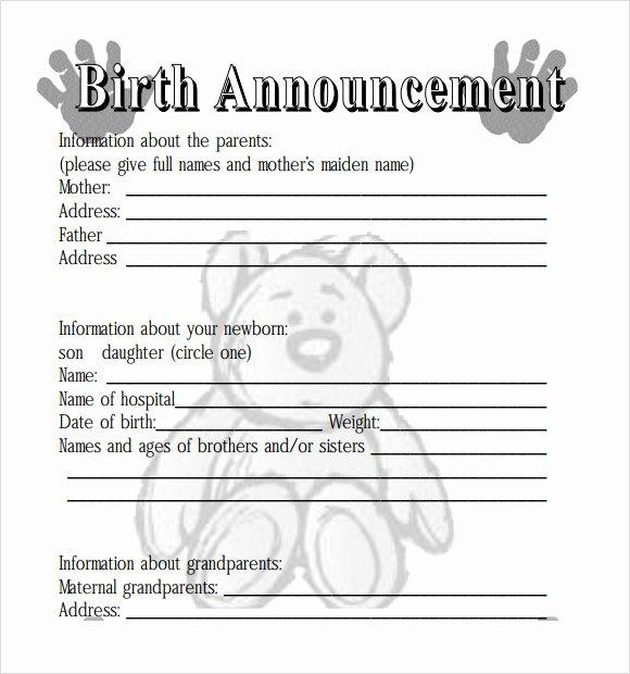 8 Birth Announcement Templates