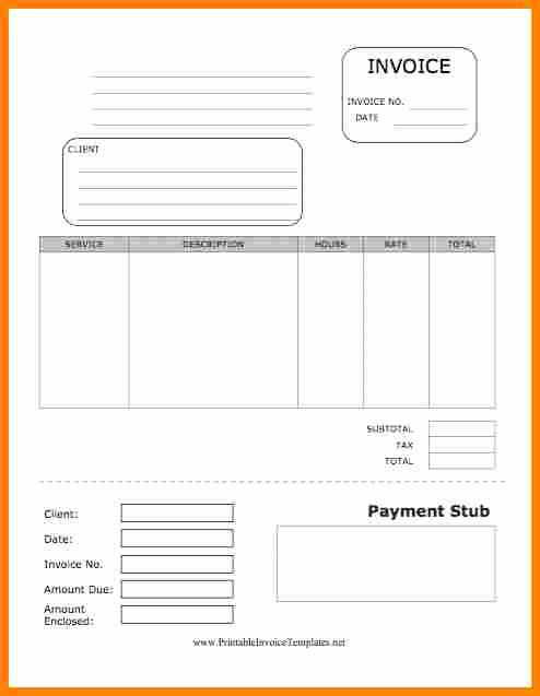 8 Blank Pay Stub Template Free
